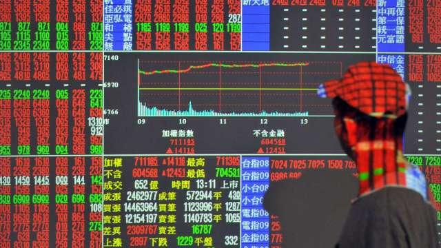 半導體族群火力全開 台股逼近「萬四」 漲161點收13878點。(圖:AFP)