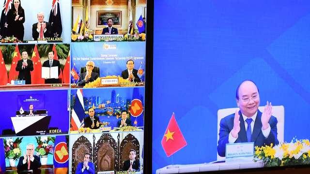 歐亞集團:RCEP有助於中國鞏固全球供應鏈優勢地位 (圖:AFP)
