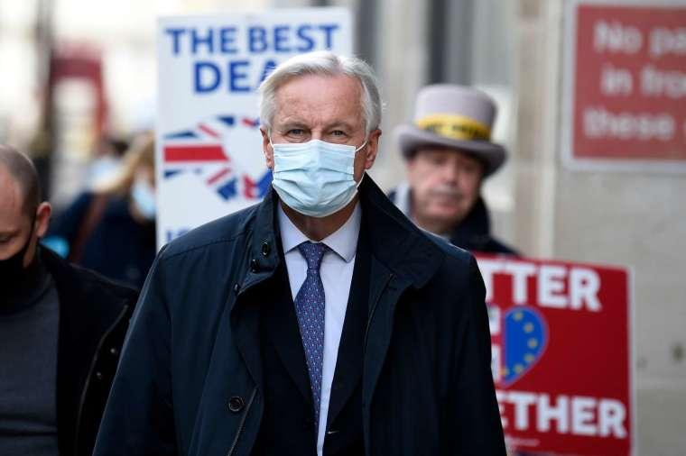 歐盟談判代表 Michel Barnier 將於今 (27 日) 晚前往倫敦 (圖:AFP)