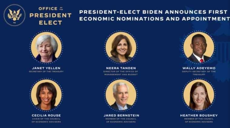 拜登還提名多位資深政治和經濟專長的女性進入經濟團隊。(圖片:拜登過渡網站)