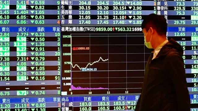 傳金族群休兵 電子權值股強勢領漲 量增逼近萬四關卡。(圖:AFP)