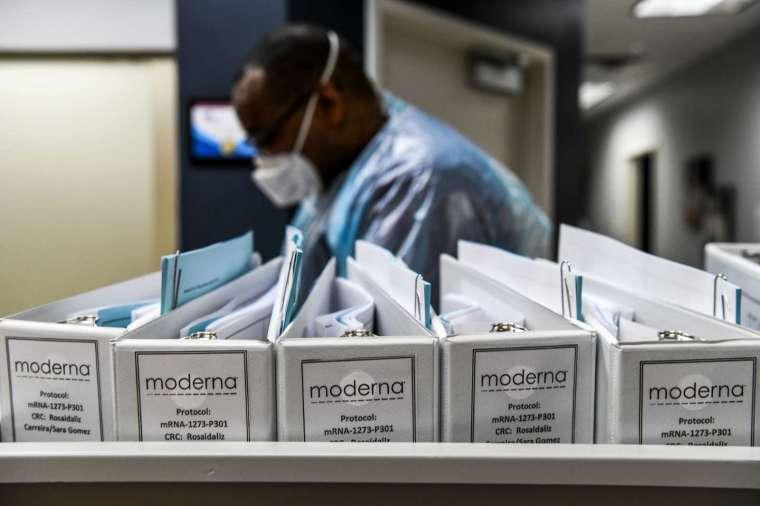 莫德納 (Moderna) 已向歐美申請緊急使用授權 (圖片:AFP)