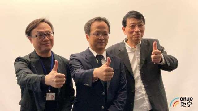 左起為國產實業總經理林鍫、總經理吳志仁、發言人邱隋益。(鉅亨網記者彭昱文攝)