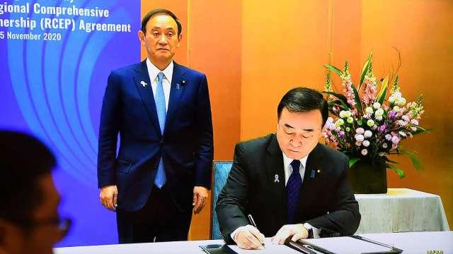 彭博:日韓向中國輸出石化產品 將因RCEP成大贏家 (圖片:AFP)
