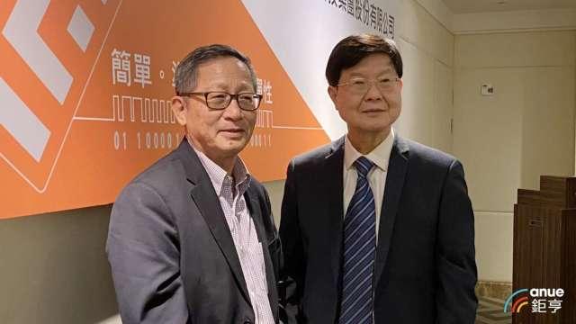 左為瑞磁創辦人何重人,右為董事長李家榮。(鉅亨網資料照)