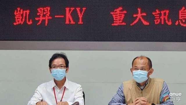 凱羿新任董事長蔡謀賦(左)。(鉅亨網資料照)