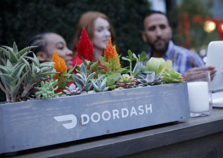 全美最大餐飲外送服務 DoorDash 週三 IPO 亮相。(圖片:AFP)