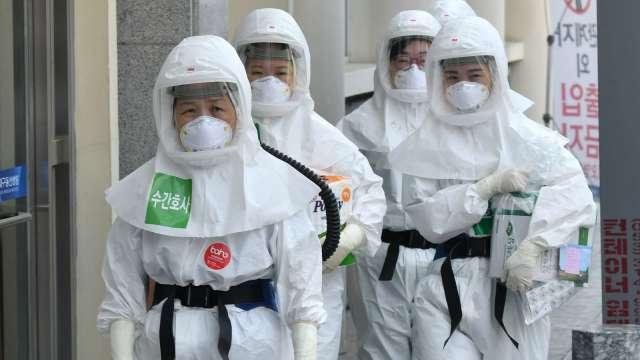 南韓疫情飆升 當局動員軍方支援 (圖片:AFP)