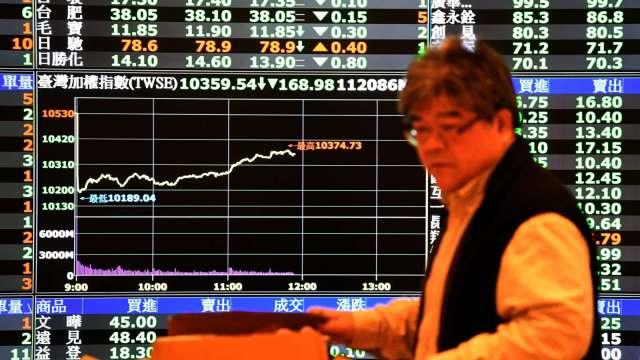 台股多空廝殺保不住5日線 外資連3賣 三大法人賣超61.69億元。(圖:AFP)