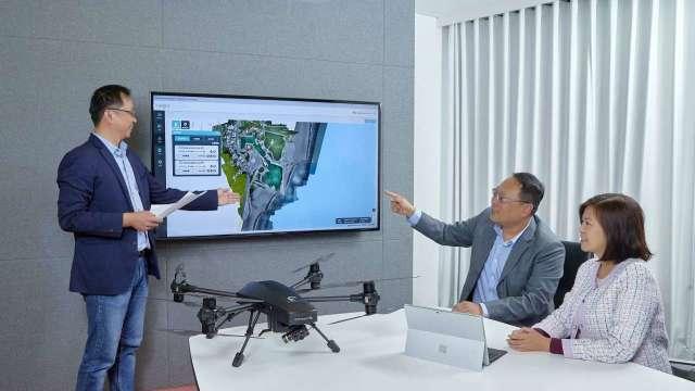 微軟攜中光電打造無人機解決方案 搶逾兆元商機。(圖:微軟提供)