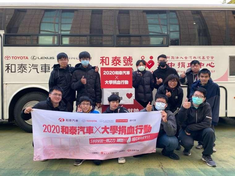 和泰號捐血車駛入全台大專院校舉辦 40 場捐血活動。(圖:和泰車提供)
