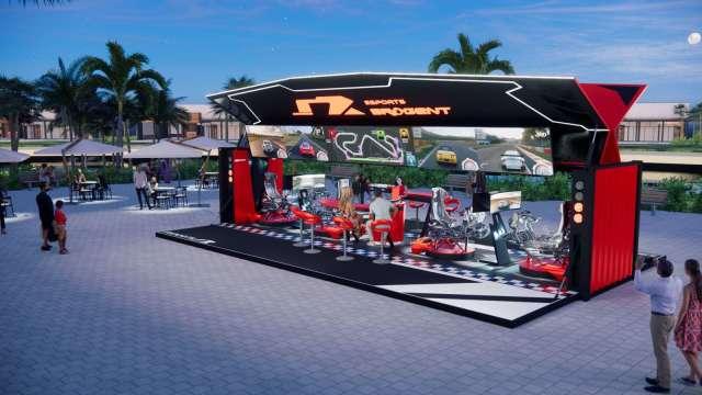 智崴新世代產品eSports移動賽車貨櫃設計概念圖。(圖:智崴提供)