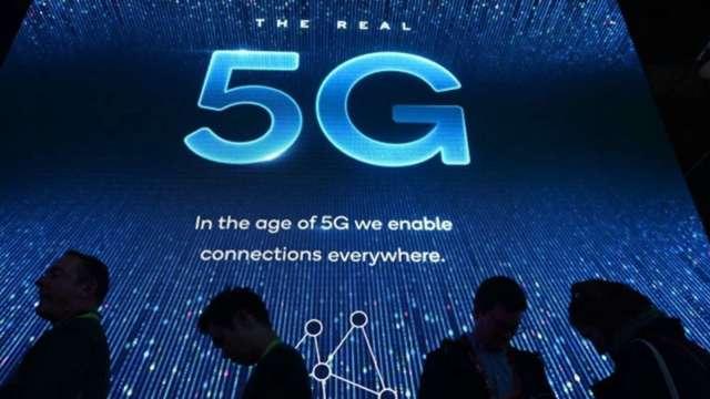 中國明年5G基建迎高峰拚達百萬目標,光通訊廠可望受惠。(圖:AFP)