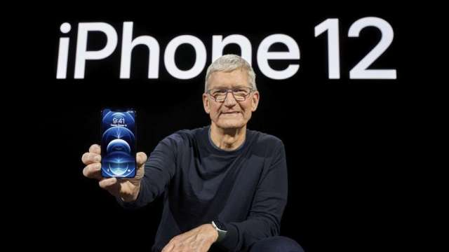 媒體:印度製造iPhone12 預計2個月之後上市(圖:AFP)