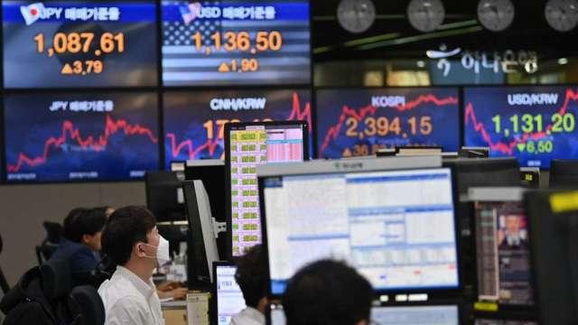 南韓股市升破2800關卡 再創歷史新高(圖:AFP)