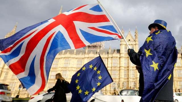 歐盟大使同意 英歐貿易協議元旦起暫時適用 (圖片:AFP)