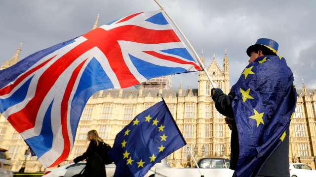 歐盟政府承認英歐貿易協定 自元旦起將暫時生效 (圖片:AFP)