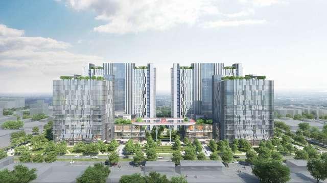 中工土城AI智慧園區160億元聯貸案今簽約,圖為設計示意圖。(圖:中工提供)
