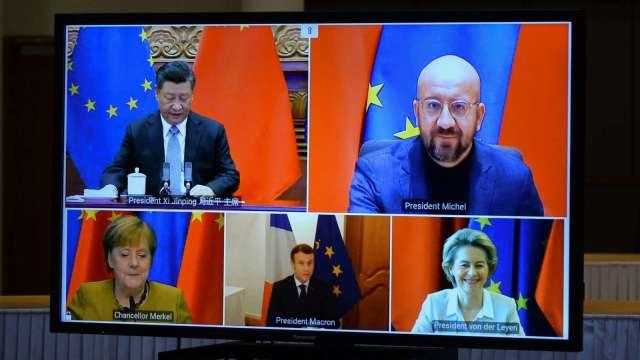 中歐領導人宣布 如期敲定中歐投資協定(圖:AFP)