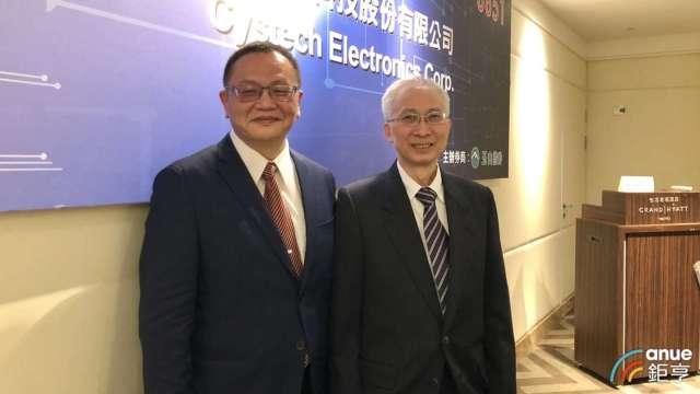 右至左為全宇昕董事長李建慶、總經理李徐華。(鉅亨網記者魏志豪攝)