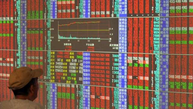 台積飆天價580元 台股爆量大漲249點收15463點續寫新高。(圖:AFP)