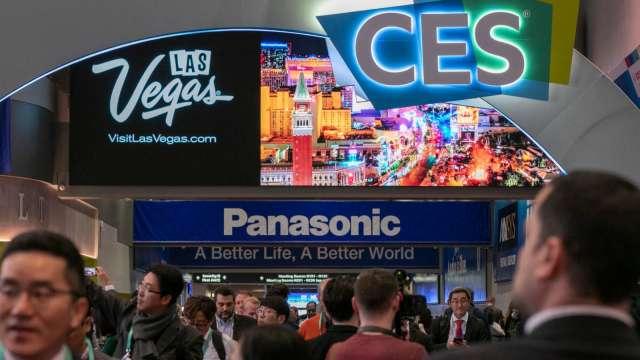 群創CES將首發高階電競電視,華碩、微星則將辦線上新品發表會。(圖:AFP)