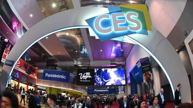 全數位CES展登場 參展廠商僅去年的四分之一。(圖:AFP)