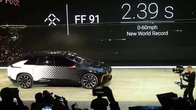 中國電動車始祖法拉第未來考慮採SPAC方式上市(圖片:AFP)