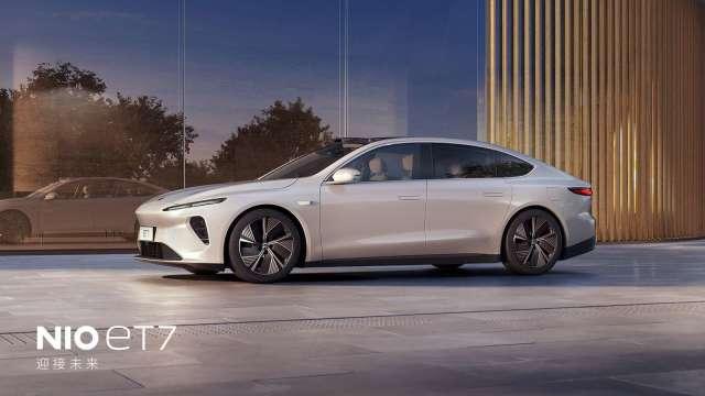 蔚來新款電動車ET7將導入輝達自駕晶片,拚2022年上市。(圖:輝達提供)