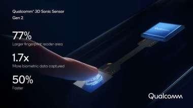 高通第二代3D超音波指紋辨識感測器(Sonic Sensor)。(圖:高通提供)