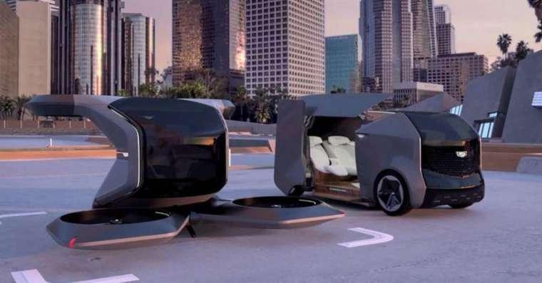 通用汽車發布凱迪拉克電動飛天概念車 (圖片:通用)