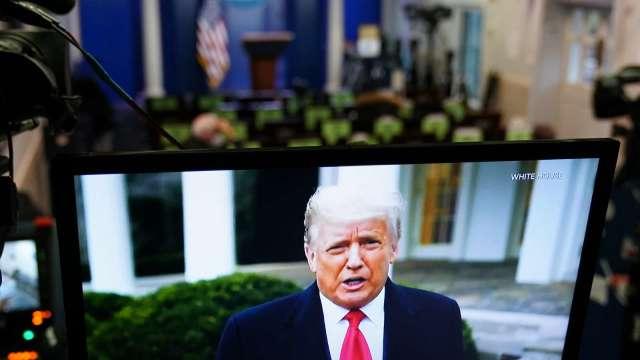 支持者多、看好戲的也不少!「川普TV」年營收上看3億美元(圖片:AFP)