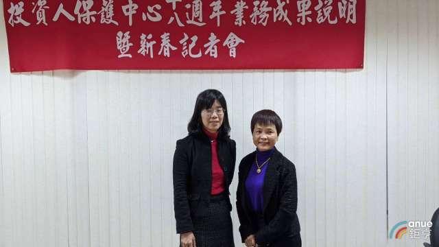 投保中心董事長張心悌(左)、總經理呂淑玲(右)。(鉅亨網記者陳蕙綾攝)