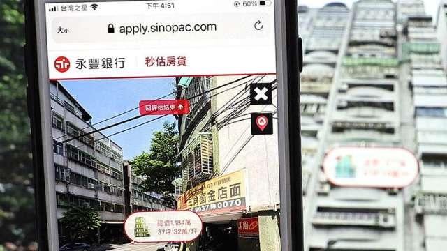 永豐首創AI估價結合街景地圖 秒估房貸服務六都、新竹先適用。(圖:永豐銀行提供)