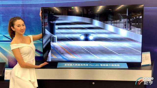 品牌廠擴大導入,今年MiniLED電視出貨上看200萬台。(鉅亨網資料照)