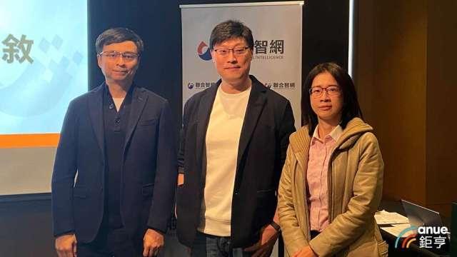 左起為聯合智網副總經理劉丕凱、總經理陳杰、品牌營銷處副總經理彭腕亭。(鉅亨網記者劉韋廷攝)