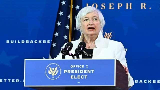 葉倫:美國能負擔更高企業稅 但疫情克服後再說(圖:AFP)