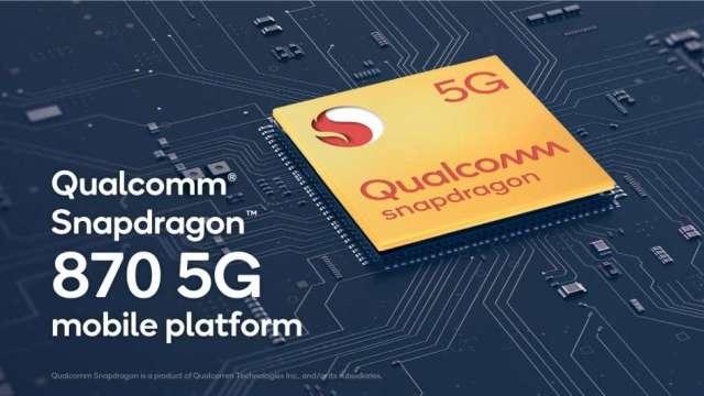 高通Snapdragon 870 5G行動平台。(圖:業者提供)