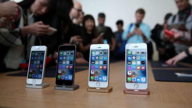 LG傳已停止蘋果iPhone的LCD產線。(圖片:AFP)