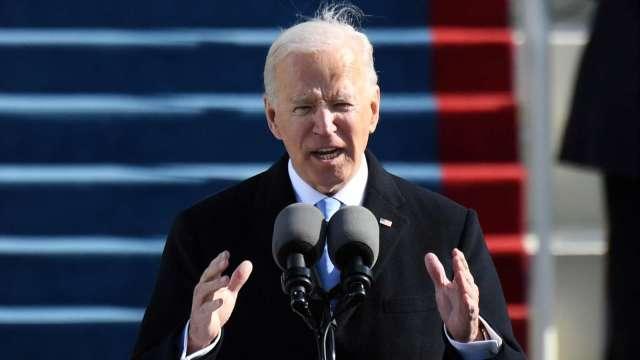 拜登於就職演說中提到,他將成為所有美國人的總統。(圖片:AFP)