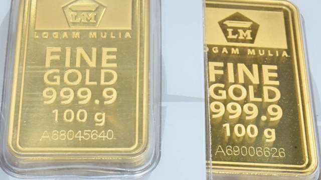 〈貴金屬盤後〉美數據優於預期 黃金自近2週漲勢回落 (圖片:AFP)