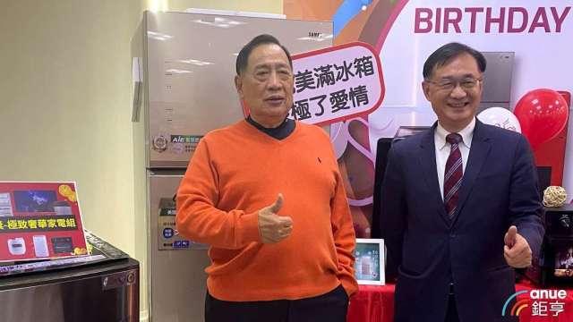 左為聲寶集團總裁陳盛沺,右為總經理許經朝。(鉅亨網記者沈筱禎攝)