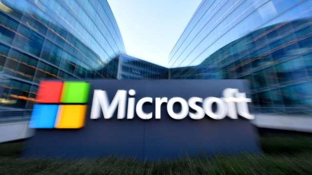 〈財報〉微軟Q2營收成長17% Azure亮眼成長50% 激勵盤後漲逾4% (圖片:AFP)
