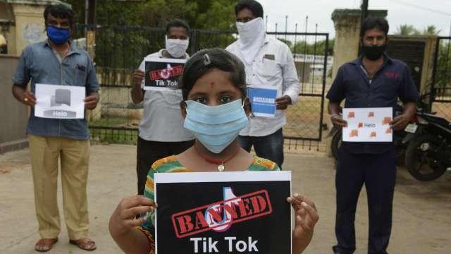 禁令傷很大!TikTok宣布在印度裁員 CEO:不確定是否能重回印度市場 (圖:AFP)