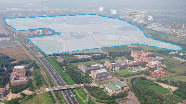 政院推大南方計畫 橋頭科學園區年底開放廠商選地。(圖:高雄市經發局提供)