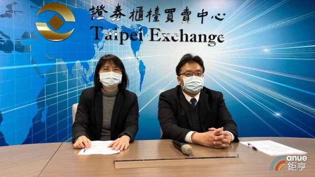 信昌電發言人羅夏盈(左)及佳邦發言人黃國書。(鉅亨網彭昱文攝)