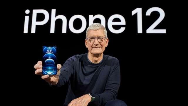 蘋果去年第四季出貨量創歷史新高 重返全球最大智慧手機商地位(圖片:AFP)