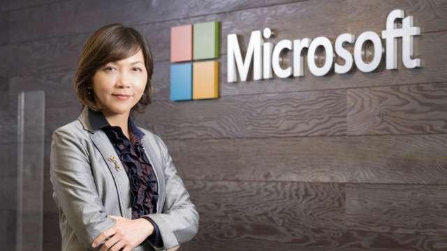 台灣微軟高層異動,陳慧蓉接任台灣微軟首席營運長。(圖:台灣微軟提供)
