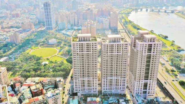 大陳社區更新單元2重建後為新建案「勝開大地」。(圖:新北市政府提供)