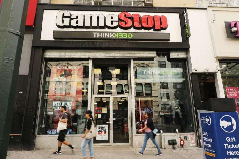 近期 GameStop 的散戶割機構韭菜現象引發爭議。(圖片:AFP)